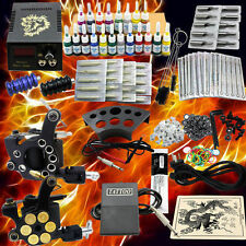 Profi Komplett Set Tätowiermaschine 2 tattoo Maschine Gun 20 Farben Tinte Nadel