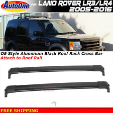 Roof Rack Cross Bars wKey 05-16 Land Rover Discovery Black Factory Style LR3 LR4