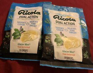 Ricola Extra Strength Cough Suppressant Drops Natural Glacier Mint, 19Ct x 2 pk