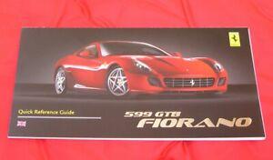 Ferrari 599 GTB Fiorano - RARE Owners Handbook Supplement - 2006 English/UK Text