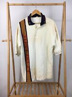 VTG Nike Men's NK Air Just Do it Spellout Short Sleeve Polo Shirt Size L USA
