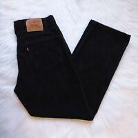 LEVI'S 505 Men's Regular Fit Straight Leg Black Jeans EUC - Size 34 x 30