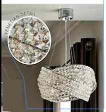 NEXT Venetian 5 Light Clear Ceiling Lighting & Chandelier NEW
