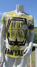 NEW 2X RAWYALTY t-shirt green white black tie dyed couture bling $149 v-neck hot