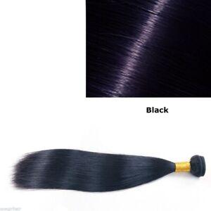 Brazilian Virgin Human Hair straight Black 1 or 3 Bundles
