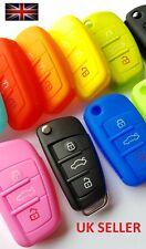 Funda llave de Audi A1 A3 S3 A4 S4 A5 S5 A6 S6 TT Q5 Q7 R8 silicona caso tirón remoto
