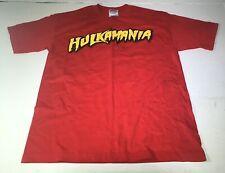 Vintage Mens Red Hulkamania is Still Runnin' Wild Shirt Size M Brother