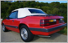 1989 1990 1991 1992 1993 Mustang Convertible Top Vinyl with Window White New!