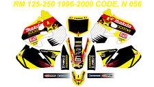 N 056 SUZUKI RM 125-250 1999 2000 Autocollants Déco Graphic Sticker Decal