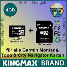 NEU MicroSD HC SD Karte - für alle Garmin Montana, Topo & City Navigator Karten