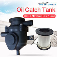 19mm 100kw Oil Catch Can Crankcase Stainless Filter Breather Fit Navara Hilux