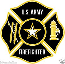 US Army Firefighter Bumper sticker Toolbox sticker Laptop Sticker Die cut LAPTOP