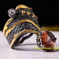 Natural Color Changing Alexandrite StoneTurkish 925 Sterling Silver Ladies Ring