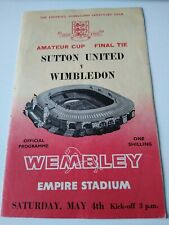 More details for sutton united v wimbledon fa amateur cup final 04/05/1963
