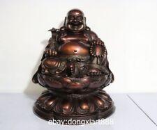20 Chinese Bronze Copper Sack Monk Wealth Laughter Ruyi Maitreya Buddha Statue
