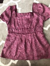 marc jacobs Pink silk blouse size 4