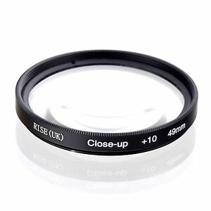 49mm +10 High Definition Close Up Macro Lens Sony Canon Nikon DSLR + FREE Pouch