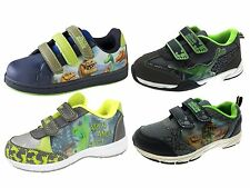 Boys The Good Dinosaur Trainers Adjustable Straps Casual Character Shoes Size