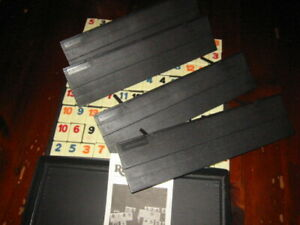 Vintage Rummikub Game 106 Tiles 4 Racks & Case 100%,COMPLETE  USA PRESSMAN 1985