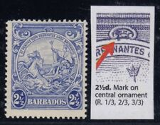 """Barbados, SG 251a, MLH """"Mark on Central Ornament"""" variety"""