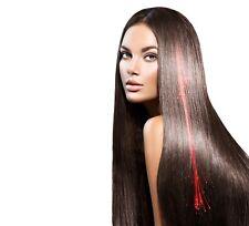 2 Red Led Extensions de Cheveux Illumine Fête Barrettes Fibre Optic à Clip Disco