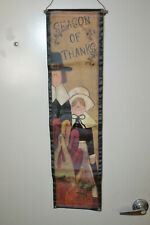 Canvas Thanksgiving wall hanging - Fb1.