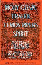 Traffic Moby Grape Spirit Lee Conklin Bg Fillmore Concert Handbill Card 1968