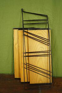 60er Bookcase Vintage String Shelf Ash Wood Wall Shelf Danish Shelf System 1