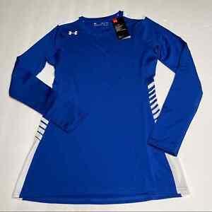 Under Armour Endless Power Jersey Women's Size XS Blue Fitted Heat Gear