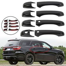 Black Door Handle Covers w Smart Key For 2011-2020 Jeep Grand Cherokee & Durango