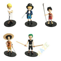 5pcs/set Anime One Piece Monkey·D·Luffy Roronoa Zoro PVC Figure Model Toy