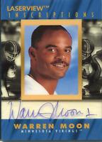 Warren Moon Autographed 1996 Pinnacle Laserview Card