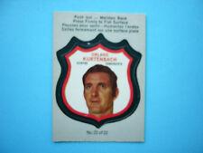 1973/74 O-PEE-CHEE PLAYER CREST LOGO NHL HOCKEY CARD #22 ORLAND KURTENBACH OPC
