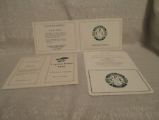 3 Cypress Point County Club Golf Scorecards