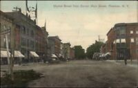 Potsdam NY Market St. From Main c1910 Postcard