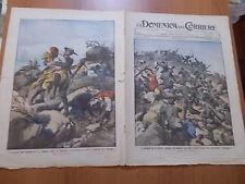 DOMENICA del CORRIERE 10/1912 Conquista alla baionetta, Alpini, Ascari, Derna