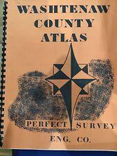 1975 Washtenaw County Atlas Plus Northville Canton Original Vintage E6236
