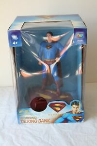 New DC Comics Superman Returns Electronic Talking Bank Light Up Effects THNKWAY