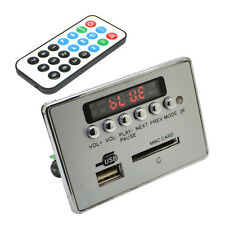 DC 12V Car Bluetooth Wireless MP3 Decoder Board Audio Module USB SD TF FM Radio