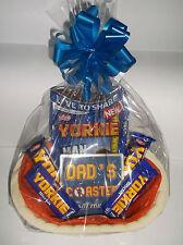 Dad Birthday Yorkie Gift Hamper Chocolate & Matching Mug Coaster Bow & Tag