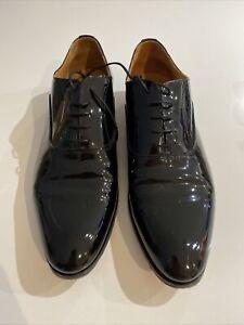 Hawes & Curtis  Men's Patent Leather Black  Lace Up Shoes Size UK 11