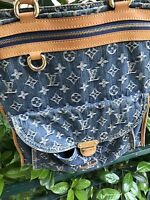 Louis Vuitton Borsa Bag Sac Plat Shopper Denim Originale