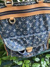 Luis Vuitton Borsa Bag Sac Plat Shopper Denim Originale