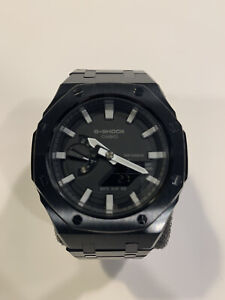 Casio G-Shock GA-2100 Steel Casioak Custom Watch AP Royal Oak Style NEW Black
