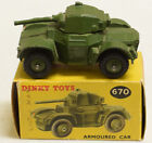 DINKY 670 ARMOURED CAR, EXCELLENT MODEL W/ VG+ BOX!