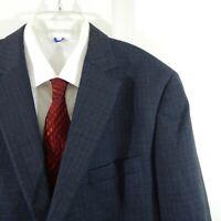 PETER MILLAR jacket blazer sport coat 100% wool two button plaid blue 44R