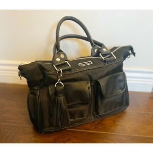 Itzy Ritzy Triple Threat Black Large Diaper Bag Backpack Convertible Messenger