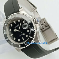 40mm BLIGER Black dial cermaic Bezel sapphire crystal automatic mens watch 2881