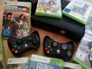 Microsoft Xbox 360 S Console / 250 GB + 2 Controller + 40 Spiele