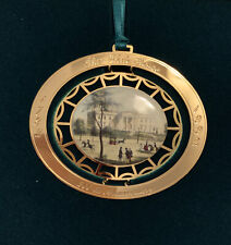 White House Christmas 1992 Brass Christmas Ornament In Box with papers 200th ann